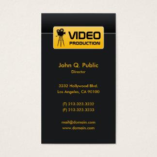 Elegante schwarze Video-und Film-Produktion Visitenkarte
