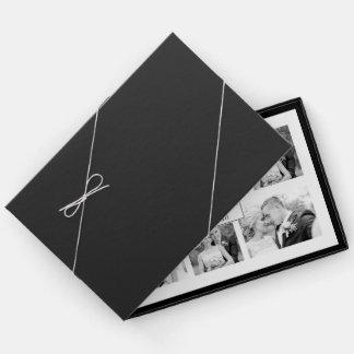 Elegante Schwarzweiss-sechs Fotocollagenhochzeit Gästebuch