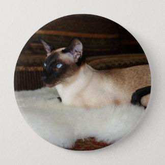 Elegante siamesische Katze Runder Button 10,2 Cm
