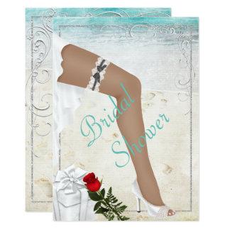 Elegante silberne Brautparty-Einladung Karte