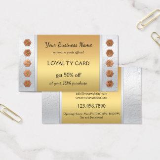 Elegante silberne Goldloyalitäts-Visitenkarte Visitenkarte