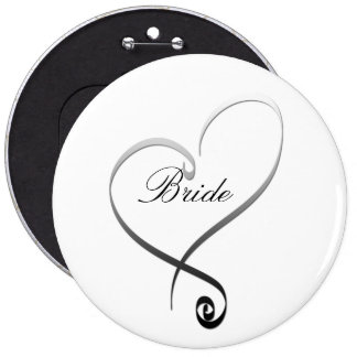 Elegante silberne Herz DIY Schablone Buttons