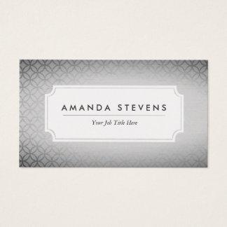 Elegante silberne metallische Visitenkarten