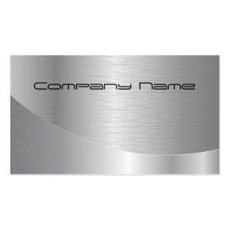 Elegante silberne UnternehmensVisitenkarte Visitenkarten