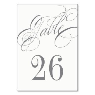 Elegante silbernes Grau-Kalligraphie-Hochzeit Karte