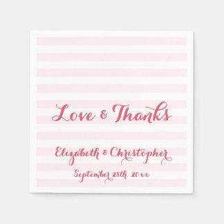 Elegante Skript-Hochzeits-Liebe dankt Servietten