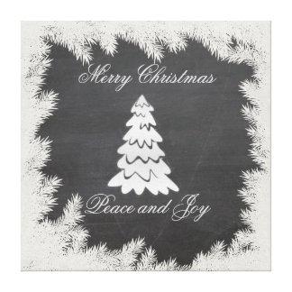 Elegante Spaß Weihnachtsbaum-Feiertagstafel Leinwanddruck