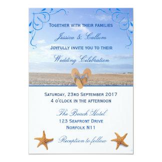 Elegante Starfish u. drehen 12,7 X 17,8 Cm Einladungskarte