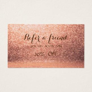 Elegante stilvolle Glittery Empfehlungs-Karte Visitenkarte