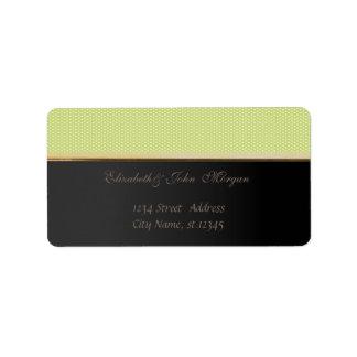 Elegante stilvolle schwarze, grüne Tupfen Adressaufkleber