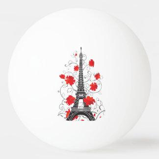 Elegante stilvolle Silhouette Turms Paris Eiffel Tischtennis Ball