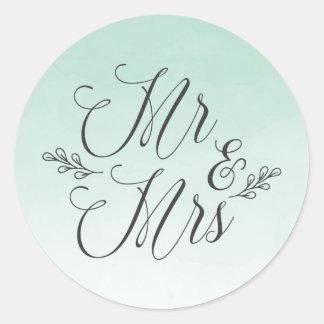 Elegante tadellose Wedding Aufkleber Ombre
