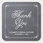 Elegante Tafel-Brautparty-Bevorzugung Quadrataufkleber