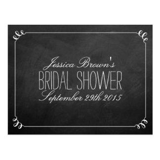 Elegante Tafel-Brautparty-Rezept-Karten Postkarte