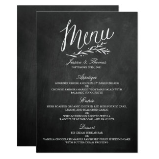 Elegante Tafel-Hochzeits-Menü-Vorlagen Karte