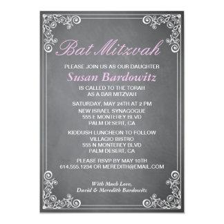Elegante Tafel-Schläger Mitzvah Einladung