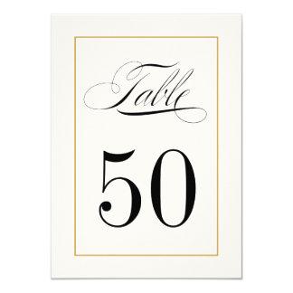 Elegante Tischnummer-Karten-festes Goldgrenze 11,4 X 15,9 Cm Einladungskarte
