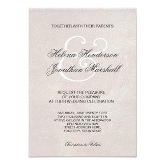 Elegante toskanische Damast-Hochzeits-Einladung 11,4 X 15,9 Cm Einladungskarte