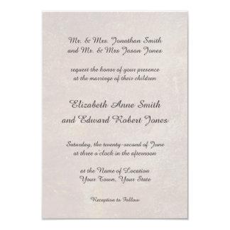 Elegante toskanische Damast-Hochzeits-Einladung 8,9 X 12,7 Cm Einladungskarte