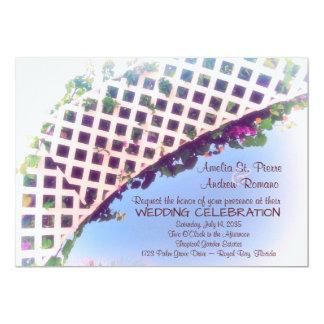 Elegante tropische 12,7 x 17,8 cm einladungskarte