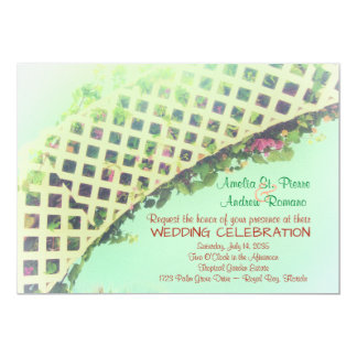 Elegante tropische Garten-Hochzeits-Einladung 12,7 X 17,8 Cm Einladungskarte