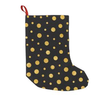Elegante Tupfen - schwarzes Gold Kleiner Weihnachtsstrumpf
