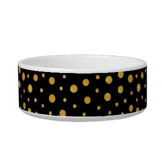 Elegante Tupfen - schwarzes Gold Napf