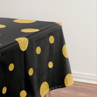 Elegante Tupfen - schwarzes Gold Tischdecke