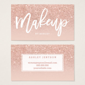 Elegante Typografie des Make-upkünstlers erröten Visitenkarte