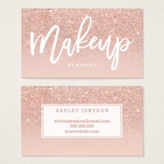 Elegante Typografie des Make-upkünstlers erröten Visitenkarten