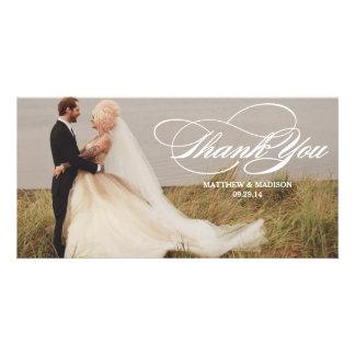 Elegante Überlagerung Wedding | danken Ihnen Bilderkarten