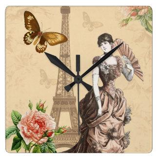 Elegante Uhr der Vintagen französischen Mode
