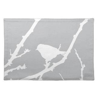Elegante unbedeutende Vogel-Silhouette Tischset