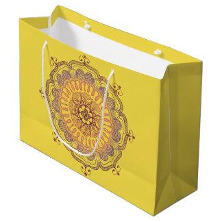 Elegante und bunte Mandala-große Große Geschenktüte