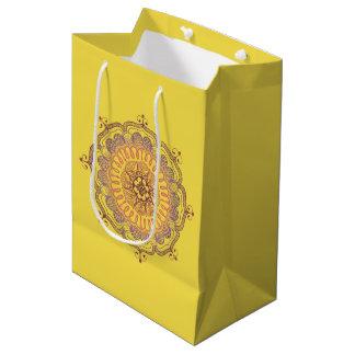 Elegante und bunte Mandala-mittlere Mittlere Geschenktüte