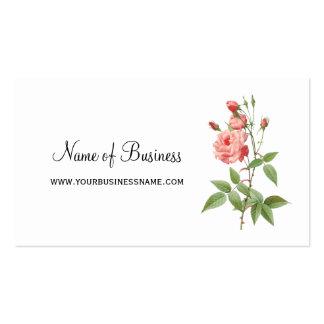 Elegante und weibliche rosa Rose mit Blumen Visitenkarten