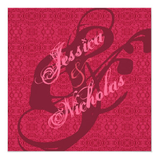 Elegante viktorianische rosa karte