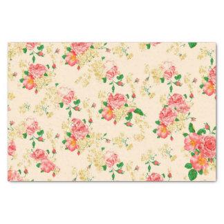 Elegante Vintage BlumenRose Seidenpapier