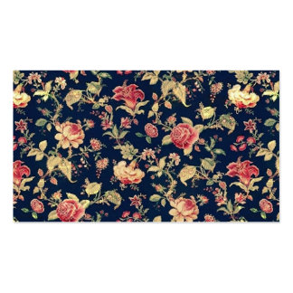 Elegante Vintage BlumenRosen-Muster-Schablone Visitenkartenvorlagen