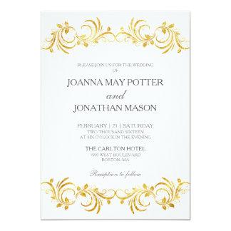 Elegante Vintage Hochzeits-Einladung 12,7 X 17,8 Cm Einladungskarte