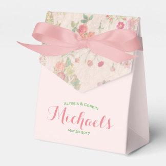 Elegante Vintage romantische rosa mit Geschenkschachtel