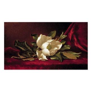 Elegante Vintage rote weiße Rosen-mit Visitenkarten Vorlagen