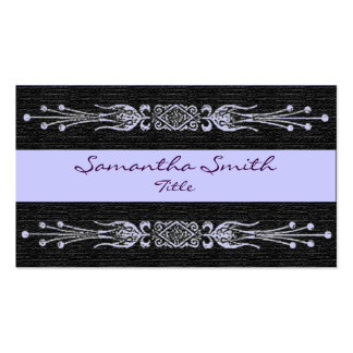 Elegante violette blaue und schwarze Visitenkarte