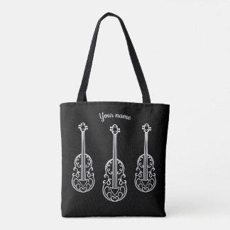 Elegante Violinen auf Schwarzem Tasche