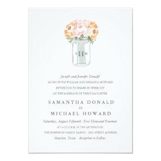 Elegante Weckglas-Hochzeits-Einladungen 12,7 X 17,8 Cm Einladungskarte