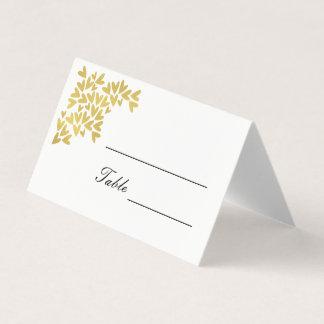 Elegante Wedding Platzkarten der Goldherz-| Platzkarte
