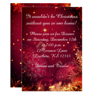 Elegante Weihnachtsabendessen-Einladung Karte