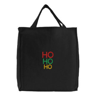 Elegante WeihnachtsHo Ho Ho festliche Geschenkfrau Bestickte Einkaufstaschen