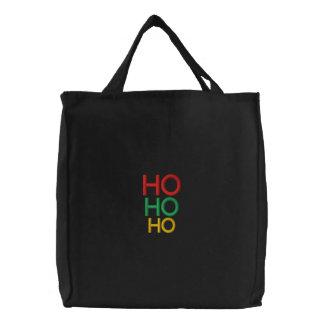 Elegante WeihnachtsHo Ho Ho festliche Geschenkfrau Bestickte Taschen