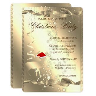 Elegante Weihnachtsrotwild, Schein, Karte